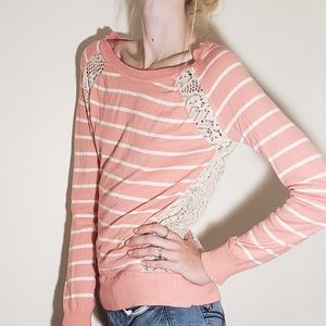 Tops - Lace Back Long Sleeve